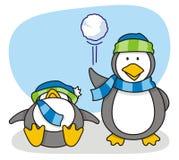 liten pingvin 5 vektor illustrationer