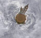 Liten planetpanorama av domkyrkan för helig ande, Minsk, Vitryssland royaltyfria bilder