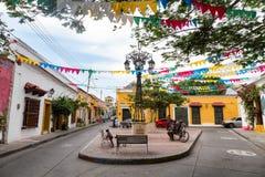 Liten plaza i Getsemani, Cartagena Royaltyfri Foto