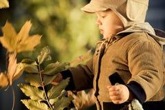 liten pojke utomhus Fotografering för Bildbyråer