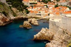 Liten port av Dubrovnik Arkivbilder