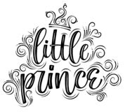 liten prince Utdragen idérik modern kalligrafi för hand stock illustrationer