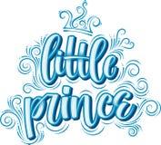 liten prince Utdragen idérik modern kalligrafi för hand vektor illustrationer