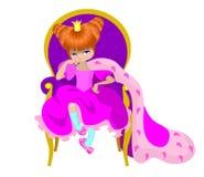 liten princess stock illustrationer