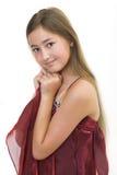 liten princess för 5 burgundy Arkivbild