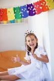 liten princess för födelsedag Arkivbild