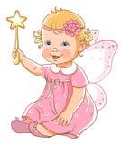 liten princess för flicka Arkivbilder