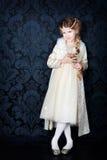 liten princess för härlig klänningflicka Royaltyfri Foto