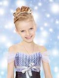 liten princess för härlig klänningflicka royaltyfri fotografi