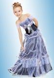 liten princess för härlig klänningflicka arkivfoton