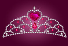 liten princess för diadem Royaltyfria Foton