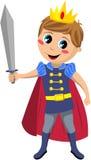 Liten prins Holding Sword Royaltyfri Foto