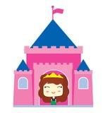 Liten prinsessa i slotten Royaltyfri Bild