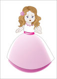 Liten prinsessabrudtärna Royaltyfri Bild