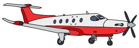 Liten propellertrafikflygplan Fotografering för Bildbyråer