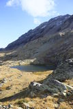liten pyrenees för lake urdiceto Arkivbild