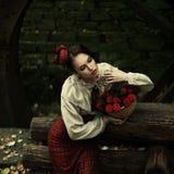 Liten röd ridninghuv. Saga Royaltyfria Foton