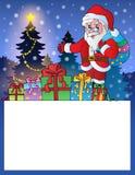 Liten ram med Santa Claus 3 Arkivbild