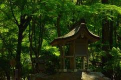 Liten relikskrin i trän, Kyoto Japan Arkivfoton