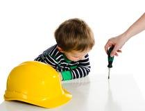 liten repairman Fotografering för Bildbyråer