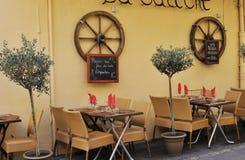 liten restaurang för aixen provence Arkivfoto