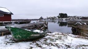 Liten roddbåt Royaltyfria Bilder