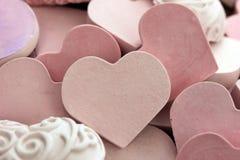 Liten rosa hjärta Arkivfoton