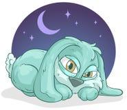 Liten sömnig kanin Arkivbilder