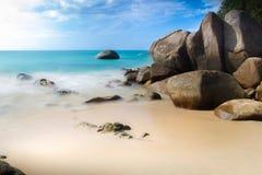 Liten sandstrand, Thailand Royaltyfria Foton