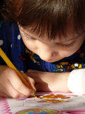 liten schoolgirl fotografering för bildbyråer