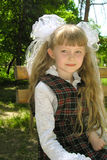 liten schoolgirl Royaltyfri Bild