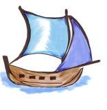 liten ship Arkivbild