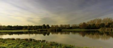 Liten sjö i Lelystad Arkivbild