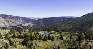 Liten sjö i Yellowstone Arkivbilder