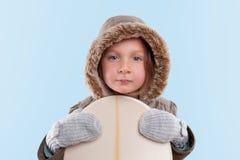 Liten snowboarder Royaltyfria Foton