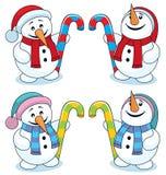 liten snowman Arkivbilder