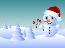 liten snowman Fotografering för Bildbyråer