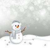 Liten snowman vektor illustrationer