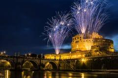 Liten sol av Castel Sant ' Angelo Royaltyfria Bilder