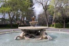 Liten springbrunn på villan Borgese. Arkivfoto