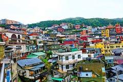 Liten stad i Taipei Taiwan Arkivbilder