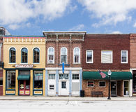 Liten stad Main Street royaltyfri bild