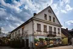 Liten stad Main Street Fotografering för Bildbyråer