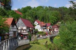 Liten stad Rathen Arkivbilder