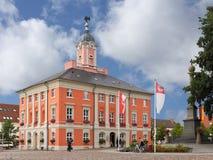 Det barocka stadshuset av Templin i Uckermarken Royaltyfria Foton