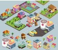 Liten stadsmiljö Arkivbild