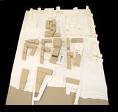 Liten stadsregenerering, modell 3D Royaltyfria Foton