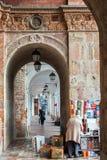 Liten Stall i Cuenca, Ecuador Royaltyfria Bilder