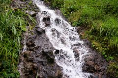 Liten ström av vatten i Indonesien royaltyfri fotografi