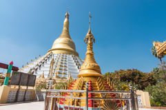 Liten stupa på segerjordning av konungen Bayinnaung, M Royaltyfri Foto